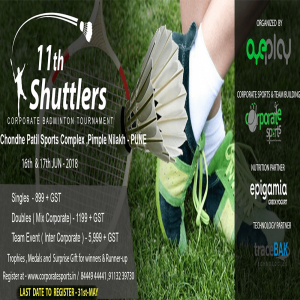 11th Shuttlers Corporate Badminton Tournament -Pune 11th shuttlers corporate badminton tournament - aundh, pune - 11th Shuttlers Corporate Badminton Tournament Pune 300x300 - 11th Shuttlers Corporate Badminton Tournament – aundh, pune