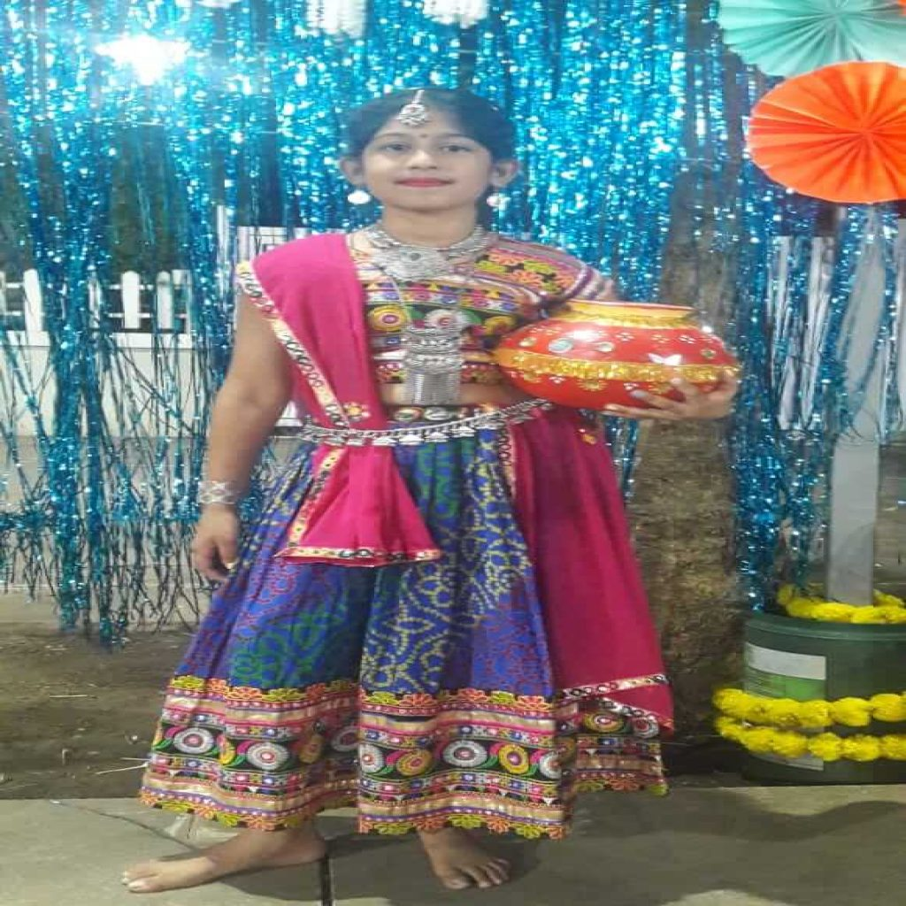 misha santani - kids garba costume photo contest - 2019 - Misha Santani Kids Garba Costume Photo Contest 2019 3 1024x1024 - 1st Prize Winner – Misha Santani – Apostrophe CHS – Kids Garba Costume Photo Contest – 2019