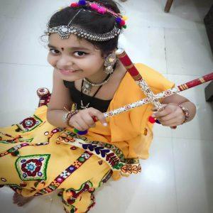 best kids garba costume photo contest 2019 - Ranya Srivastava 300x300 - Best Kids Garba Costume Photo Contest – 2019 Wakad