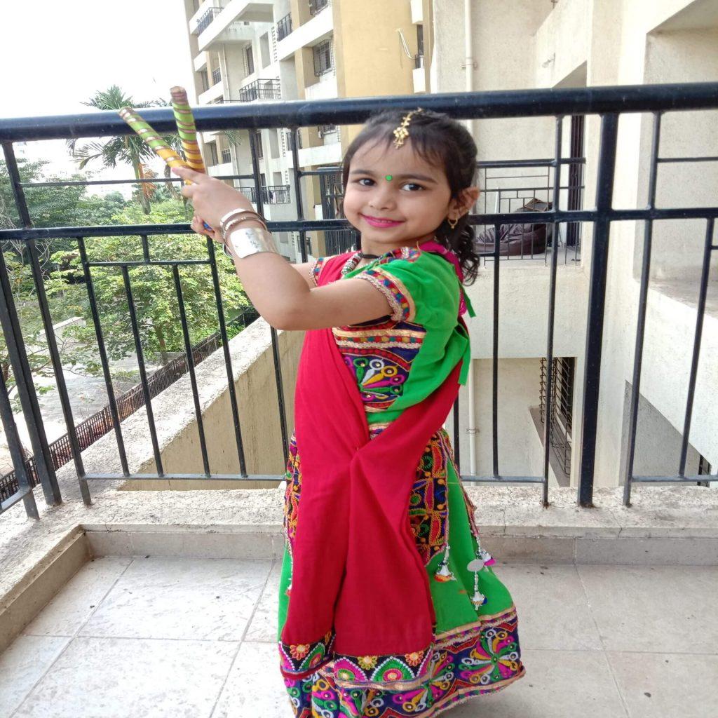 saisha kakkar - kids garba costume photo contest - 2019 - Saisha Kakkar Kids Garba Costume Photo Contest 2019 2 1024x1024 - 2nd Prize Winner – Saisha Kakkar – Datta Mandir Road, Wakad – Kids Garba Costume Photo Contest – 2019