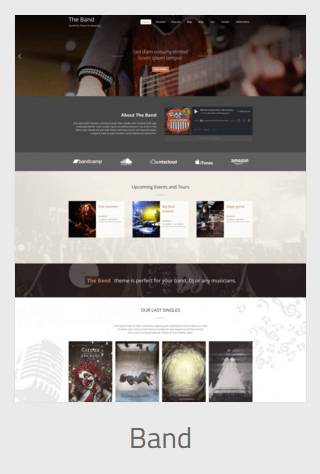 Website Development - band - Website Development
