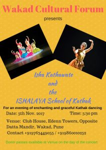 graceful kathak dancing - wakad cultural forum - ishalaya school of kathak 212x300 - Graceful Kathak Dancing – Wakad Cultural Forum, Eden Towers, Wakad