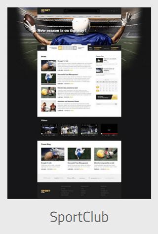 website development - sportsclub - Website Development
