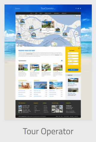 website development - tour operator - Website Development